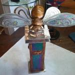 "Queen Bee  Bronze & Iridized Glass Limited Edition of 10 50""x30""x28"""