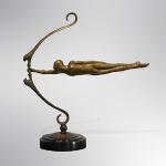 "Focus VI Bronze Limited Edition 98 17""x16""x5"""