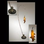 "The Catch Stainless Steel, Copper, Steel & Hand-Blown Glass Original 32""x16""x96"""
