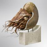 "Nautilus Bronze, Steel & Aluminum Limited Edition of 24 30""x30""x10"""