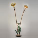 "Tree Frog Lily Lamp Bronze, Steel and Hand-Blown Glass 75""x48"" Limited Edition of 48"