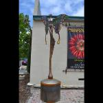 Amorphius II Bronze, Steel and Iridized Glass 10 feet tall by 5 feet wide Limited Edition 10