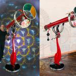 """The Time Machine""  Fully functional Jules Verne inspired Kaleidoscope 61""x87"""
