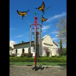 24 foot tall Butterfly Wind Chime located at Sculpterra Winery and Sculpture Garden.