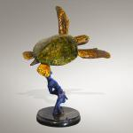 "Tortuga Bronze Limited Edition of 36 ~ 18""x18""x24"" Sea Turtle Sculpture"